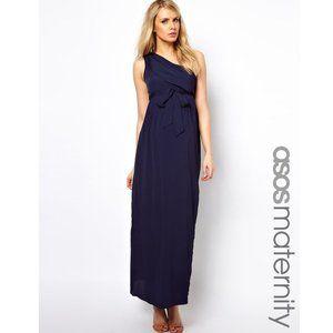 ASOS Maternity Navy Empire Waist Maxi Dress